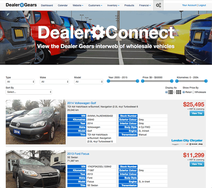 Dealer Connect Screenshot 1