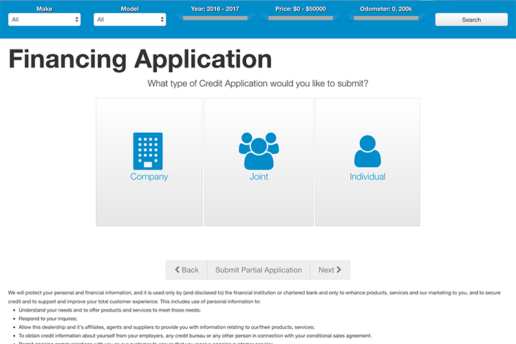 Financing Application